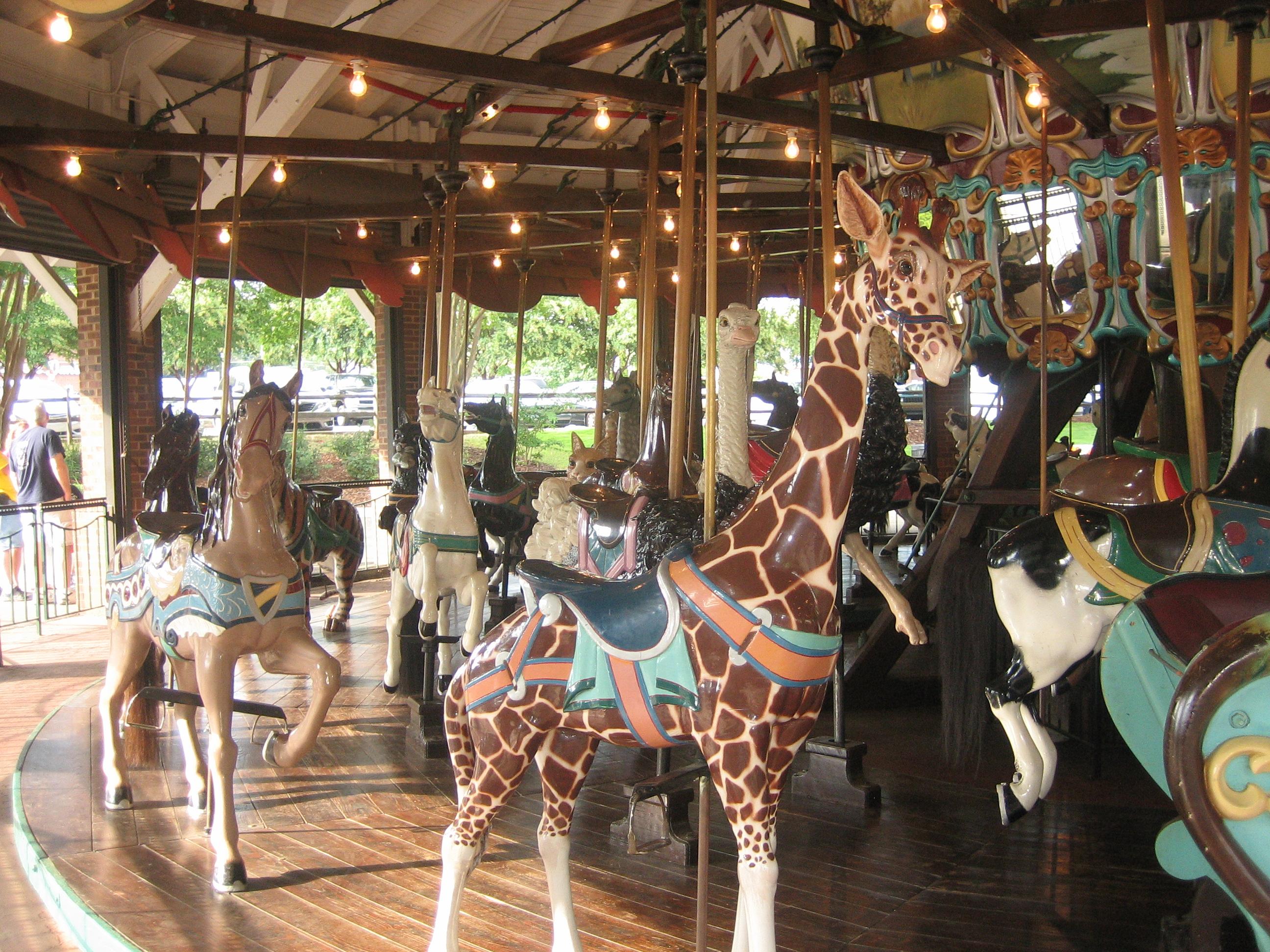 100 year old carousel in City Park, Burlington NC
